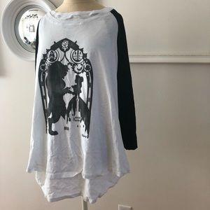 Beauty & the Beast 3x ringer shirt Disney